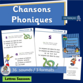 French Chansons Phoniques: 36  phonics song charts (SASSOON)
