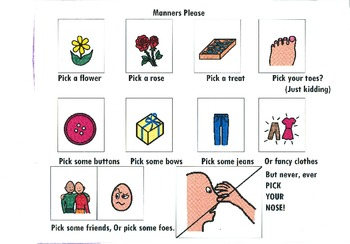 Chant Board - Manners Please/ Classroom Management