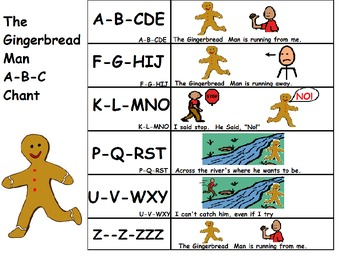 Christmas Chant Board - A-B-C Gingerbread Man