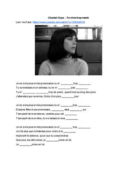 French Music - Chantal Goya – Tu m'as trop menti - passé composé et futur simple