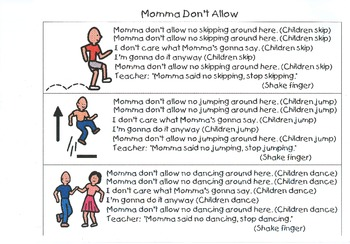 Chantboard:  Mama Don't Allow - Teaching Manners