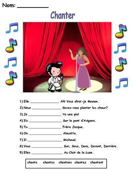 Chanter fill-in worksheet