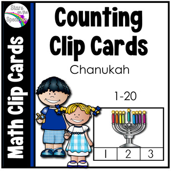 Hanukkah Math Counting Clip Cards