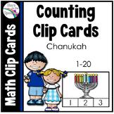 Hanukkah Activities Math Counting Clip Cards