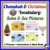 Chanukah & Christmas Vocabulary Uncover the Picture Boom Cards™