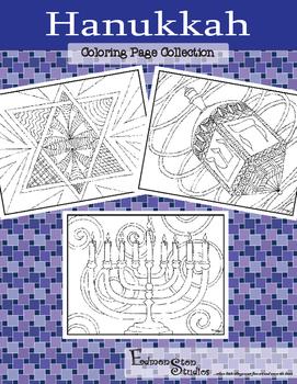 Chanukah Hanukkah Jewish Celebration of Lights Coloring Pages