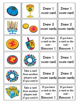 Chanukah / Hanukkah Patterning Play Game - Holiday Fun ~ Early Reading Center