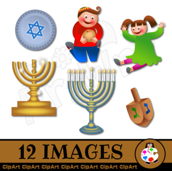 Chanukah Holiday Celebration Illustrations