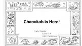 Chanukah Pre-Reader Level 1-C Printable Black and White Book