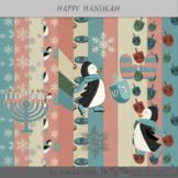Chanukah or Hanukkah Papers and Clip Art Digital Scrapbook