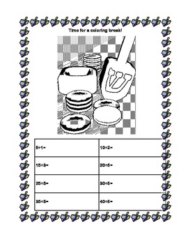 ChanukahThemed -Division for Grades 3-4-Sequenced Printable Worksheets
