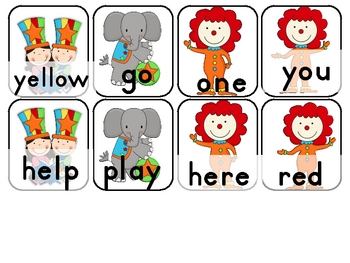 Chaos with a Cat in a Circus Striped Hat Pre-Primer Sight Word Game