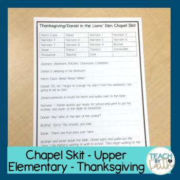 Chapel Skit - Thanksgiving - Upper Elementary