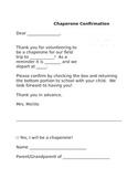 Chaperone Confirmation Slip (Editable)