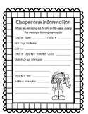 English/Spanish Field Trip Chaperone Information Sheet