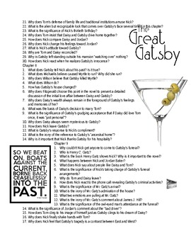 Chapter 1-9 Great Gatsby Study Guide