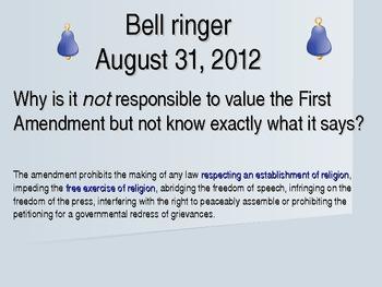 Chapter 1 Bell ringers for Speech