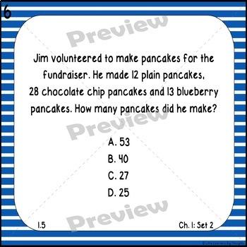 GO Math Chapter 1 Task Cards Grade 3