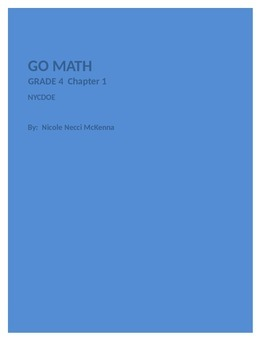 Chapter 1 Go Math Plans
