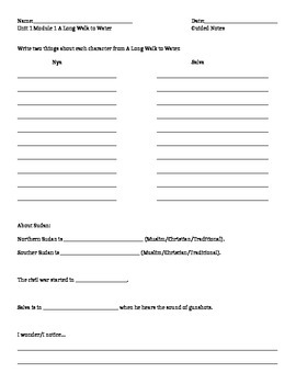 Chapter 1 Guided Notes Worksheet