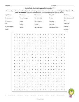 Chapter 1 Hidden Message Word Search (Asi se dice 3)