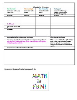 Chapter 1 Lesson 1 Grade 5 Go Math Lesson Plan