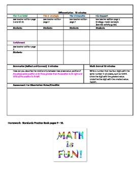 Chapter 1 Lesson 1 Grade 5 Go Math Lesson Plan