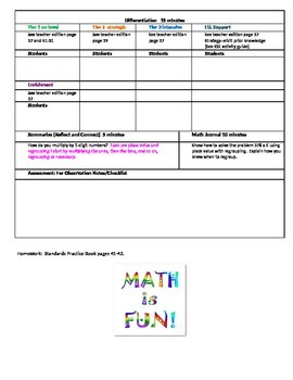 Chapter 1 Lesson 6 Grade 5 Go Math Lesson Plan
