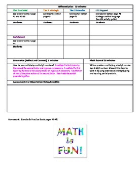 Chapter 1 Lesson 7 Grade 5 Go Math Lesson Plan