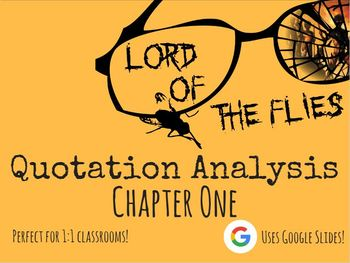 Chapter 1 - Lord of the Flies - Quote Analysis