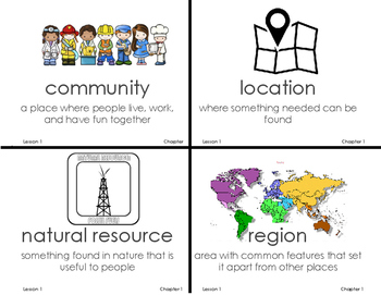 Chapter 1 Our Communities Vocab Grade 3