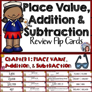 Go Math 4th Grade Place Value, Addition and Subtraction Math Center