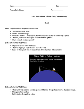 Chapter 1: Planet Earth Notes