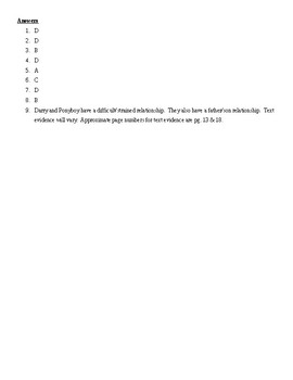 Chapter 1 Review and Quiz for The Outsiders