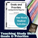 Study Skills Course Curriculum - Setting Goals and Priorities