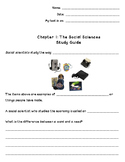 Chapter 1 Social Scientist Study Guide
