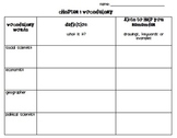 Chapter 1 Vocabulary Chart- Social Studies Alive! Grade 4