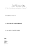 US History Worksheet: Roots of the American People (Chapter 1)