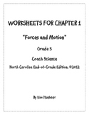 Chapter 1 Worksheets - 5th Grade Coach Science book - North Carolina Edition