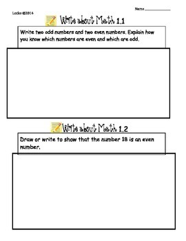 Chapter 1 Write About Math