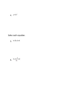 Chapter 10 Algebra 2 Test over Cubic and Cube root functions