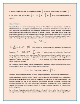 """Physics Lectures - Chapter 10. """"Atoms, Charges & Coulomb's Law"""""""