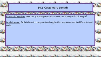 Chapter 10 Go Math Essential Questions and Journal Writing