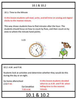 3rd Grade, Chapter 10- Go Math Review Packet