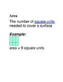 Chapter 11 Go Math Grade 3 Word Wall with Images