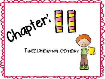 Chapter 11 Go Math Vocabulary Cards for 1st Grade