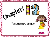 Chapter 12 Go Math Vocabulary Cards for 1st Grade