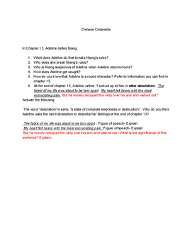 Chapter 13 Comprehension Questions/Analyzation of Chinese