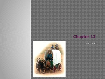 Chapter #13 - Creating America Notes
