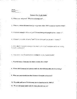Chapter #14 Creating America Study Guide, Test, and Answer Key